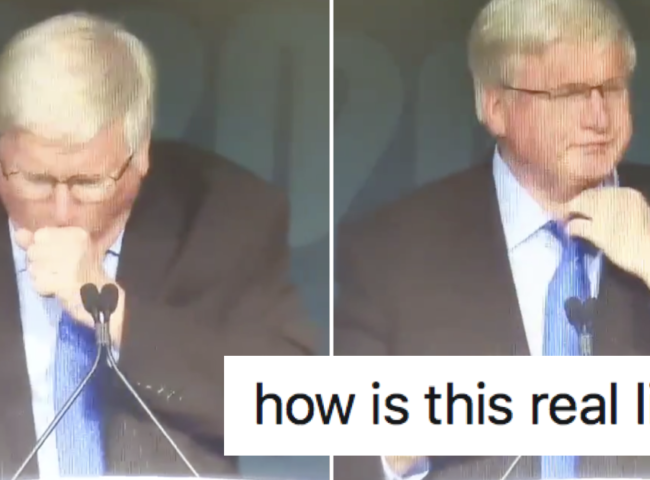 This speaker coughing at a Republican convention wins facepalm of the day