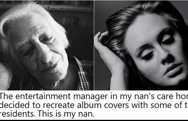These care home residents recreated iconic album covers and it's absolutely joyous
