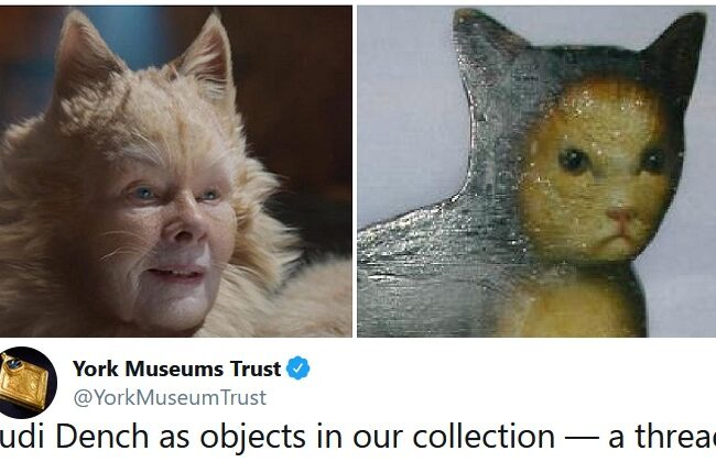 Dame Judi Dench as museum exhibits is very fitting for such a national treasure