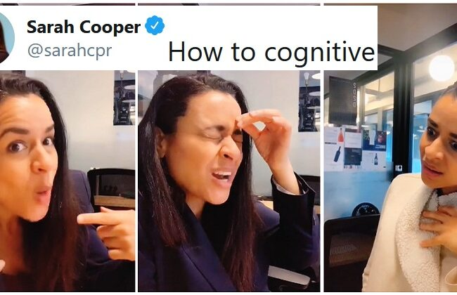 "Sarah Cooper's ""How to cognitive"" lip-synch shines a hilarious light on Trump's own words"